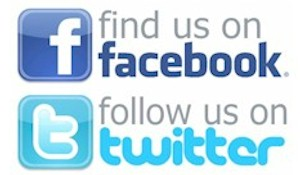 Find us on Facebook, Follow us on Twitter